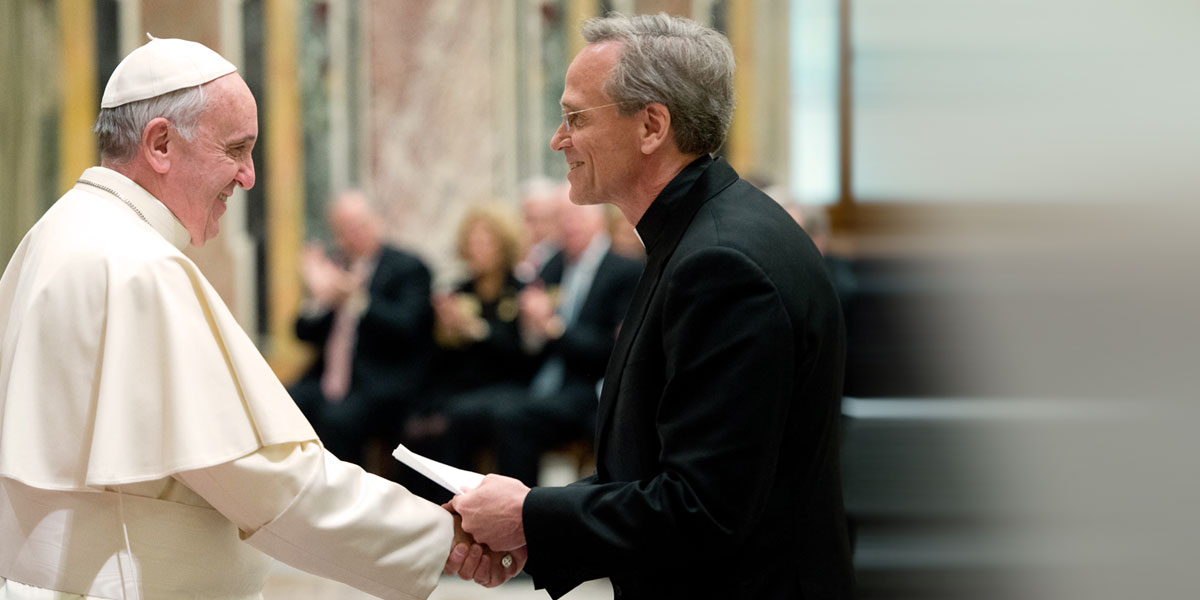 Notre Dame leaders meet with Pope Francis
